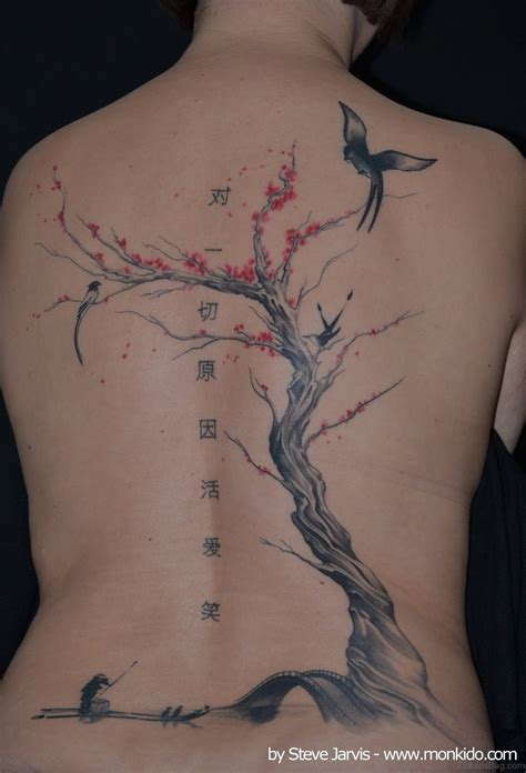 tree and bird tattoo 60 pretty cherry blossom tattoos for back