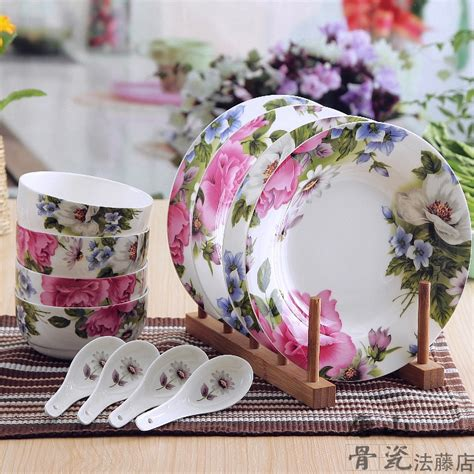 Blossom Collection 2set Free Blossom 1set 12 set floral blossom designed bone china dish set refined ceramic white dinnerware