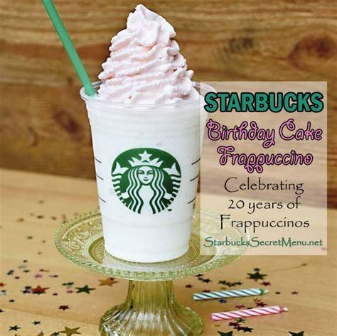 Tropicana Slim Caffe Latte 10s starbucks birthday cake frappuccino celebrating 20 years