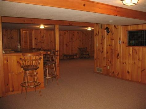 basement pine knotty pine yup built in bar yup for sale yup this