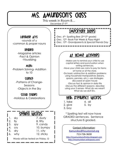 Test Templates For Teachers by Weekly Newsletter Templates For Teachers Grade