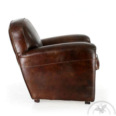 Vintage Brown Leather by Easychair Vintage Brown Leather Havane Saulaie