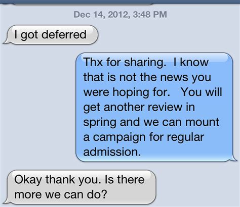 Columbia Mba Deferred To Regular Decision by Sle Response To College Deferral Letter Business