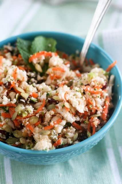 Https Pinchofyum Detox Cauliflower Salad by Cauliflower Quot Detox Quot Salad The Healthy Foodie