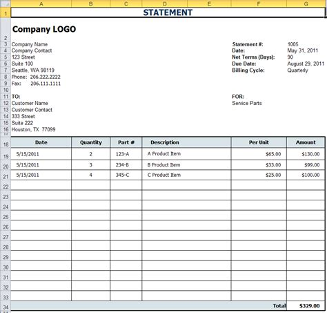 statement template free excel templates for payroll sales commission