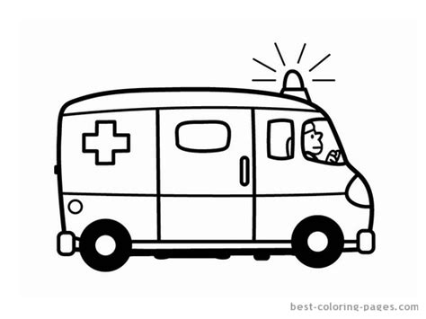 Ambulance Coloring Pages Color Bros Ambulance Pictures To Colour