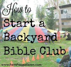 Backyard Bible Club by God S Backyard Bible C Theme Chart Children Youth