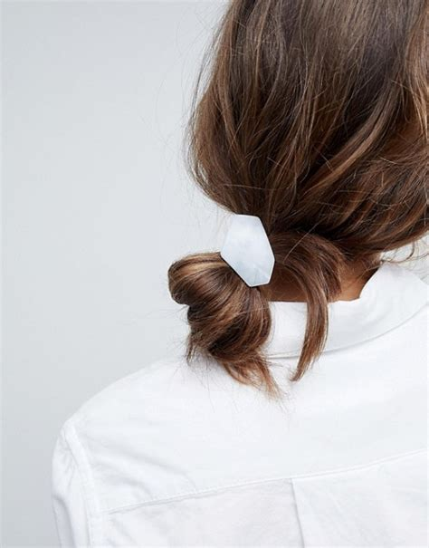 Disc Hair Tie asos asos resin shape disc hair tie