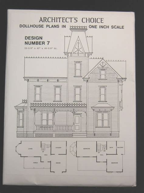 dollhouse plans design  architects choice  scale