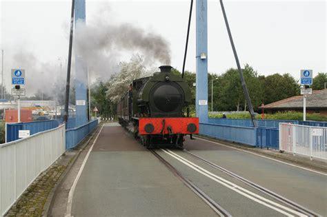 swinging preston walkden crossing the dock swing bridge picture of