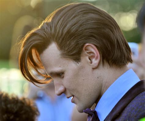 doctor who hairstyles matt smith wears wig on set of doctor who special