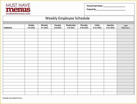 7 Monthly Employee Schedule Template Authorization Letter Employee Monthly Schedule Template