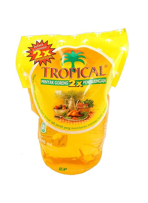 Minyak Goreng Tropical 500ml jual minyak tropical goreng refill 2000ml klikindomaret