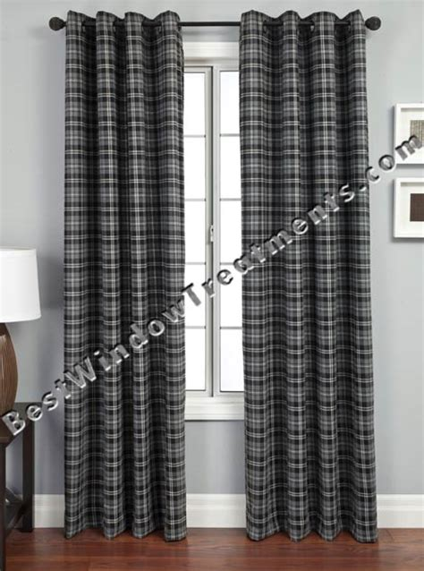 plaid drapes window treatments gentlemens plaid scarf swag window topper available in 4