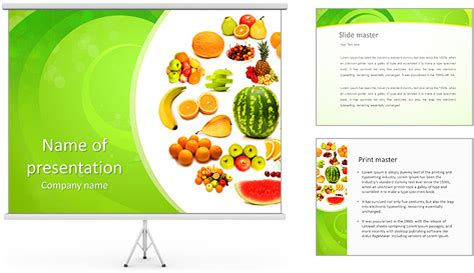 Healthy Food Benefits Powerpoint Template Backgrounds Id 0000004544 Smiletemplates Com Healthy Food Powerpoint Template
