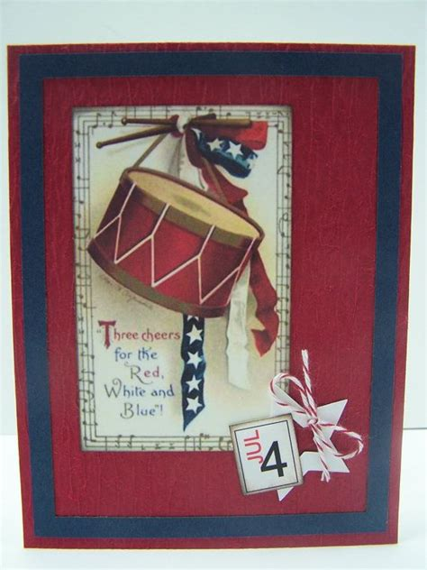 Handmade Independence Day Cards - handmade greeting card memorial day veteran s day 4th