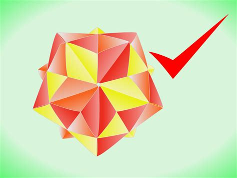 Origami Icosahedron - how to make a modular origami stellated icosahedron