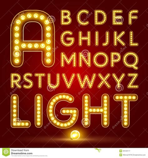 how to use happy light alphabet set with realistic l royalty free stock
