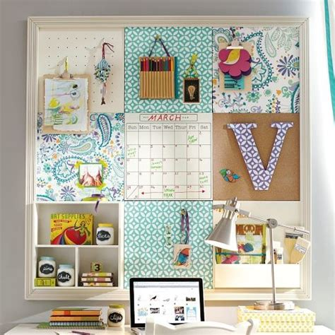 bulletin board ideas for bedroom could diy this with cork tiles scrapbook paper