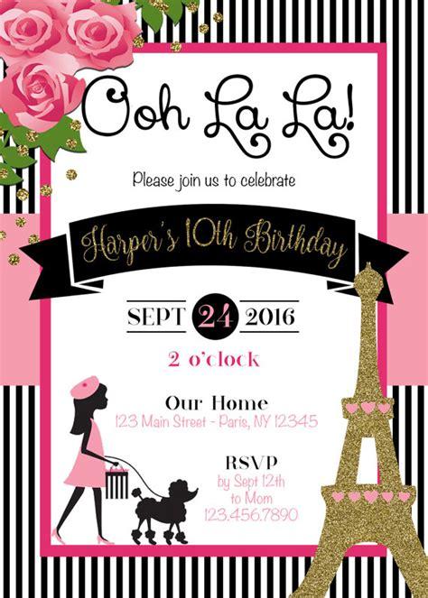 paris themed birthday invitations paris invitation paris theme party paris by sophisticatedswan