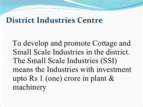 Cottage And Small Scale Industries by Entrepreneurship And Project Management