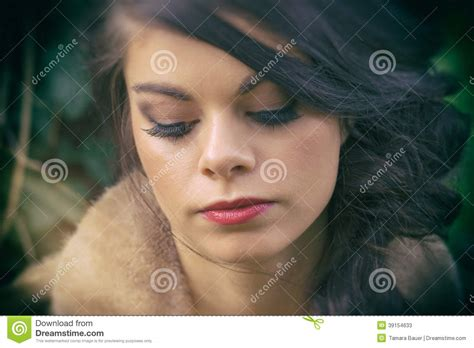 expression 3x caribbean hair wistful woman stock photo image 39154633