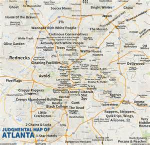 Atlanta Georgia Map by Judgmental Maps Atlanta Ga By An Honest Atlantan Copr