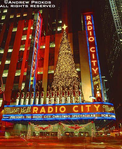 radio city christmas tree in new york city of the city