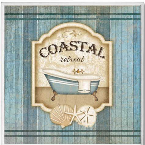wall plaques for bathroom coastal retreat bathroom wall plaque