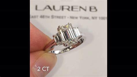 carat emerald cut  stone engagement ring youtube