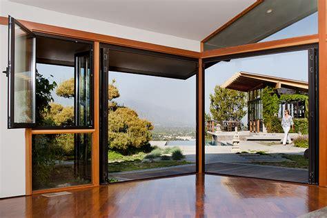 The Glen Oaks Poolhouse Nanawall Disappearing Glass Doors