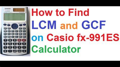 find lcm  gcf  casio fx es scientific