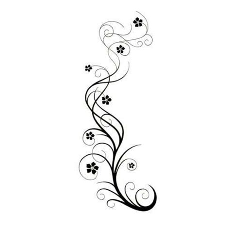 small swirl tattoos swirly vine with flowers design tatoo