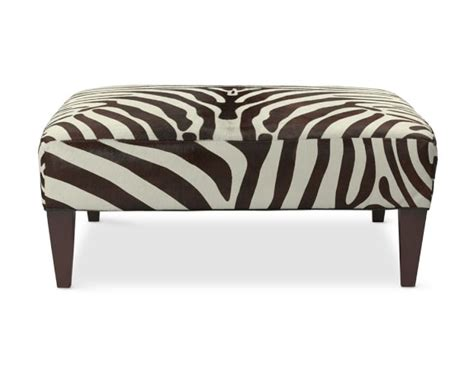 hair on hide ottoman fairfax zebra hair on hide ottoman williams sonoma