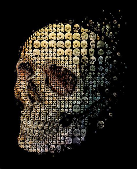 mosaic pattern in evolution 10 halloween skulls yatzer jpg
