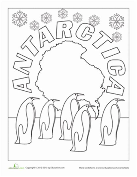 Antarctica Worksheet Education Com Earth Arctic Coloring Page