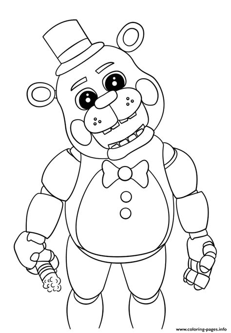 five nights of freddy coloring pages cute five nights at freddys 2018 coloring pages printable