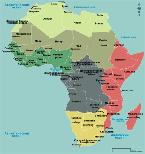In Africa by Regions Of Africa Map