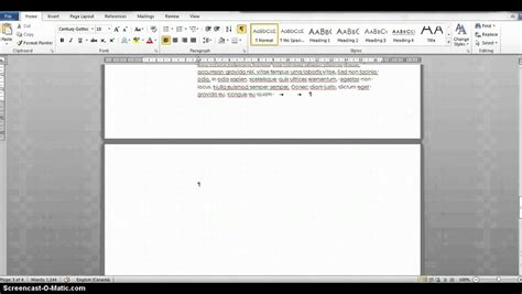 Get Word Getting Rid Of A Blank Page In Word