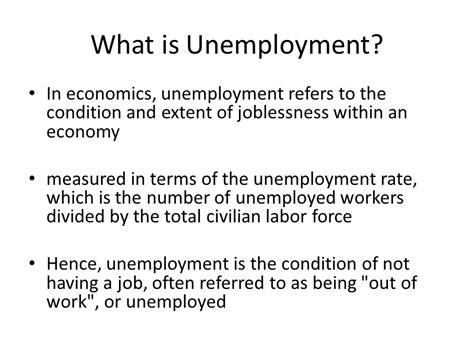 what iz unemployment unemployment ppt video online download