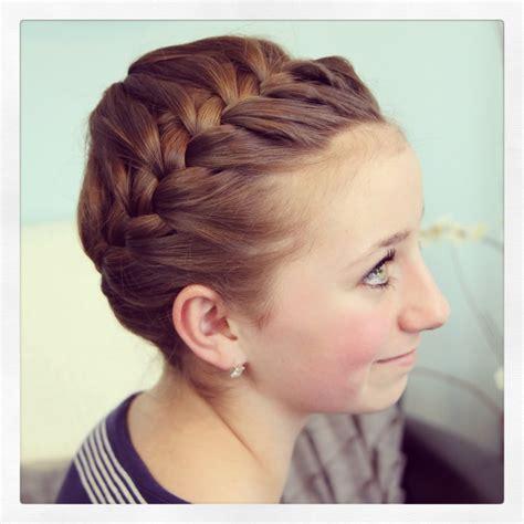 Starburst crown braid updo hairstyles cute girls hairstyles