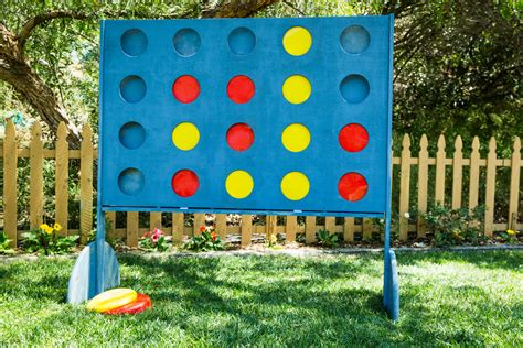 backyard connect four diy giant backyard connect four game
