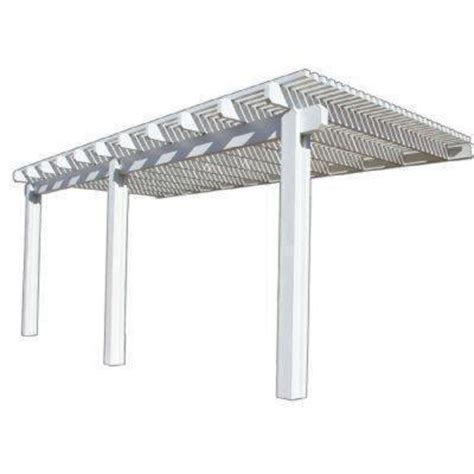 Patio Covers At Home Depot Four Seasons Building Products 20 Ft X 10 Ft White
