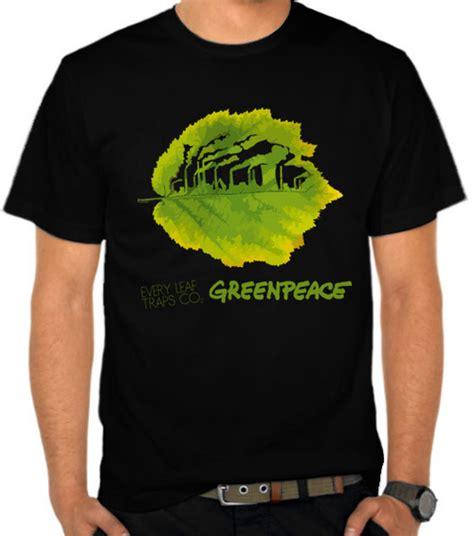 Kaos Save The World 1 jual kaos greenpeace leaf traps co2 organisasi