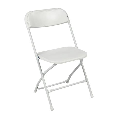 Folding Chair by 5 Pack Commercial White Plastic Folding Stackable Wedding