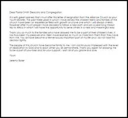 Letter Of Resignation Church by Youth Ministry Resignation Letter Resignation Letters Livecareer