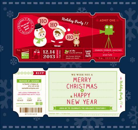 printable santa tickets christmas party cartoon