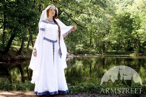 Exclusive white White Swan medieval fantasy stylish dress