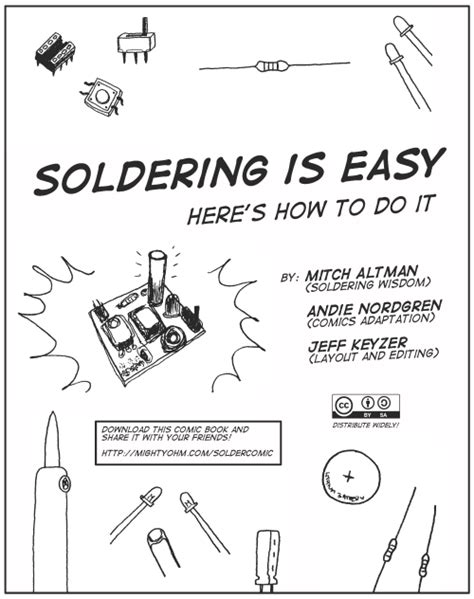 easy electronics make handbook books announcing the soldering is easy complete comic book