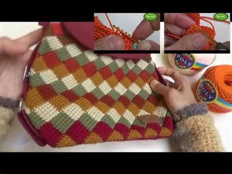 tutorial rajut umi iva tutorial motif papan catur entrelac crochet review youtube